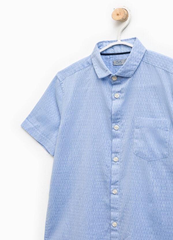 Camicia in cotone stampa all-over | OVS