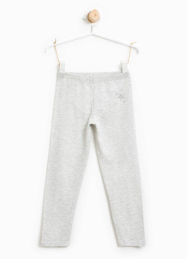 Cotton leggings with glitter stars | OVS