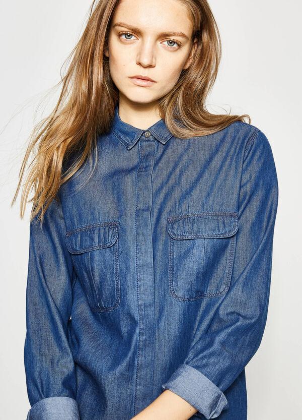 Camicia di jeans con fondo stondato | OVS