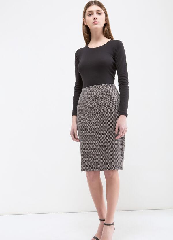 Stretch patterned midi skirt | OVS