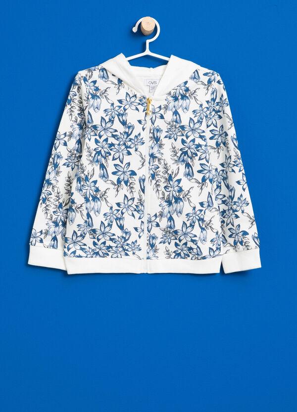 100% cotton floral sweatshirt | OVS