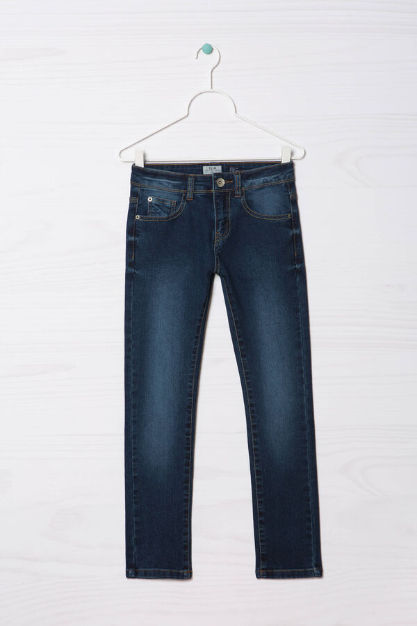 Jeans slim fit stretch effetto used   OVS