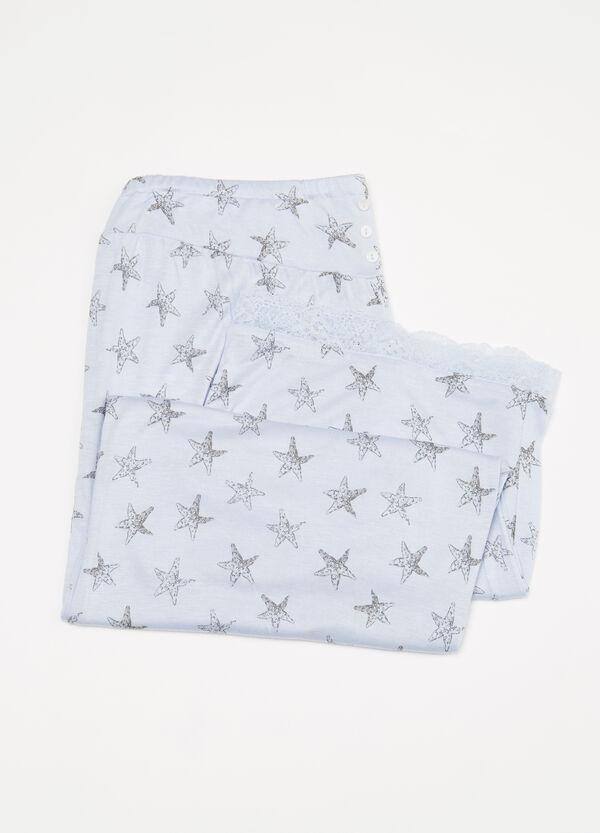 Printed viscose pyjama trousers | OVS