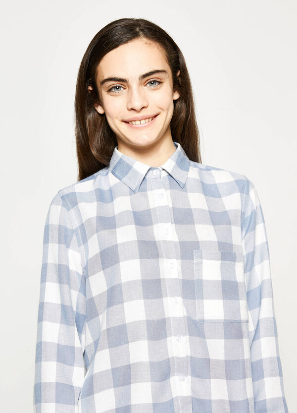 Teen checked viscose shirt | OVS
