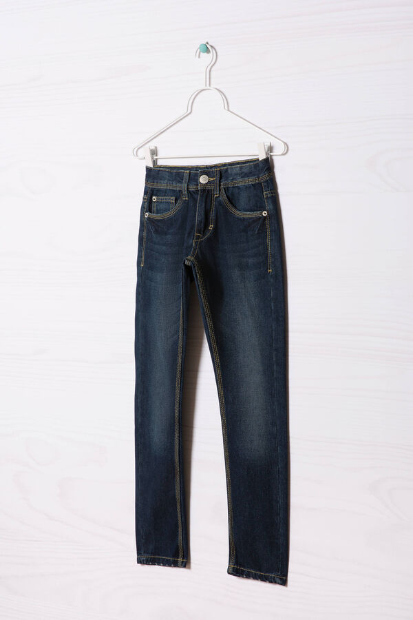 Jeans effetto used cuciture contrasto   OVS