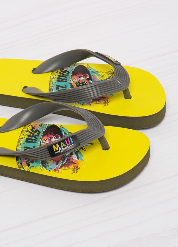 Printed thong sandals by Maui and Sons | OVS
