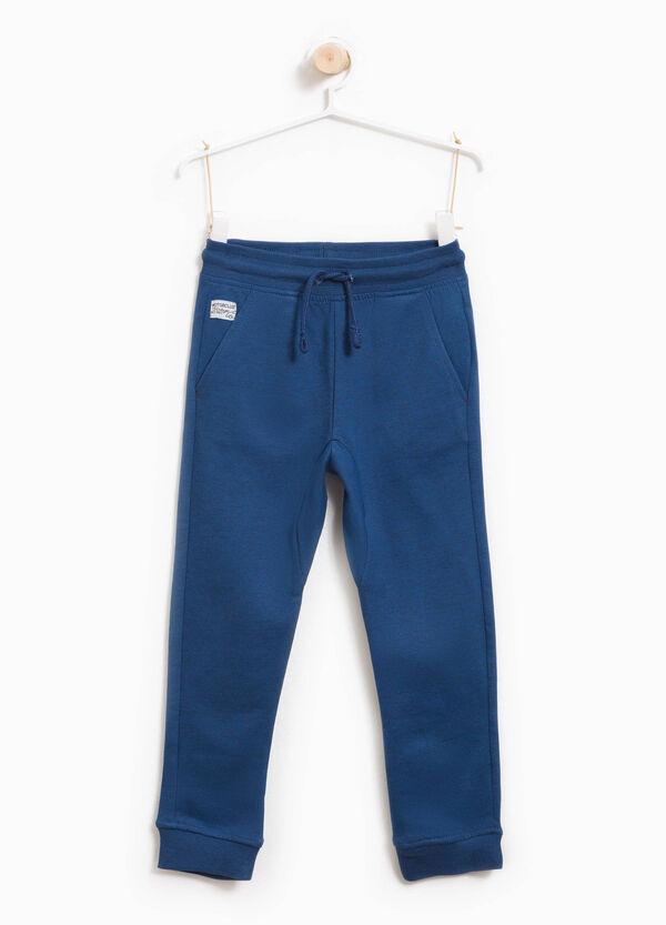 Pantaloni tuta in puro cotone tinta unita | OVS