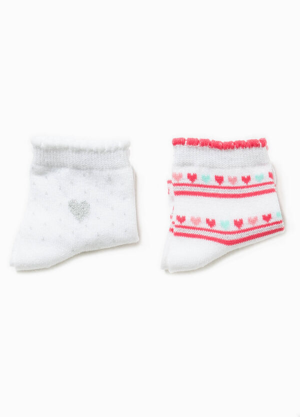 Two-pack polka dot patterned socks | OVS