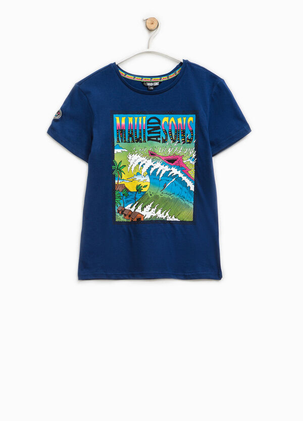 Printed T-shirt by Maui and Sons   OVS