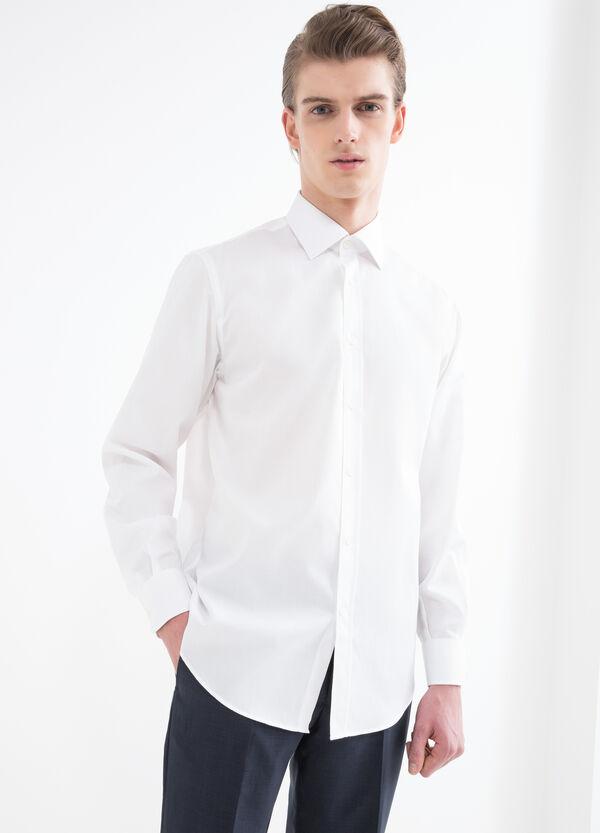 Regular-fit shirt with micro checks. | OVS