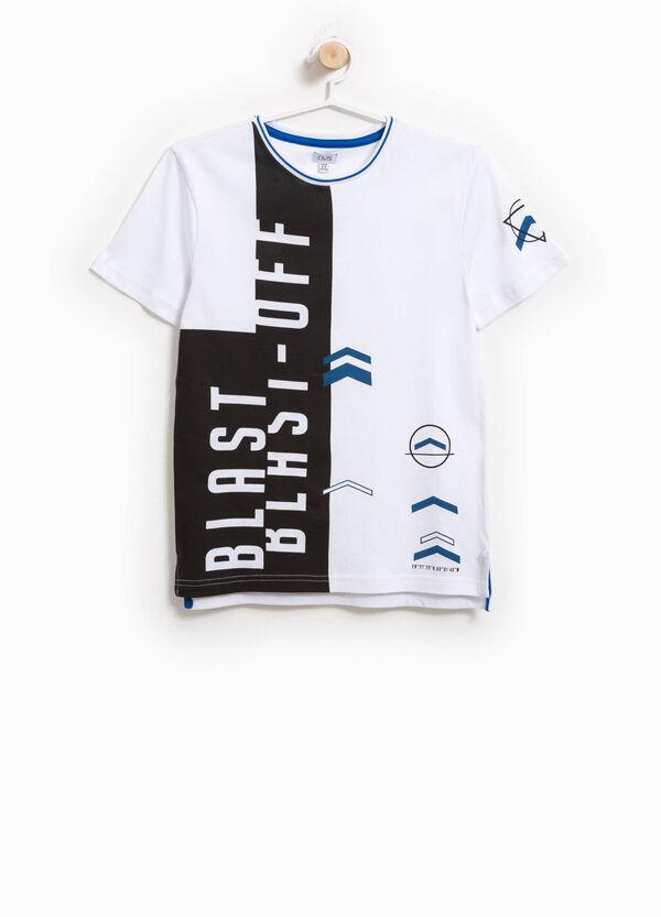 T-shirt in cotone girocollo con stampa | OVS