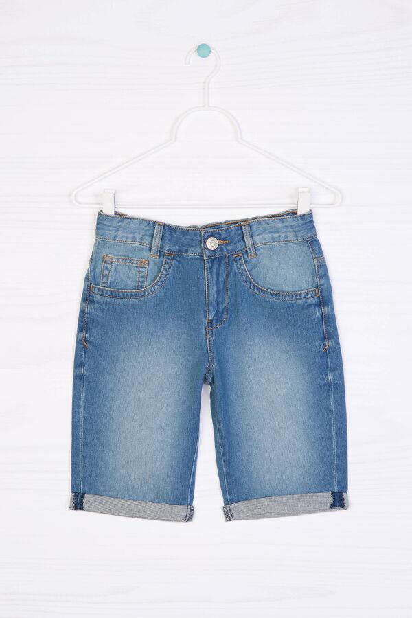 Denim Bermuda shorts with turn-ups   OVS