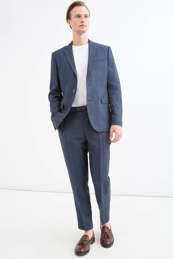 100% linen, regular-fit jacket | OVS