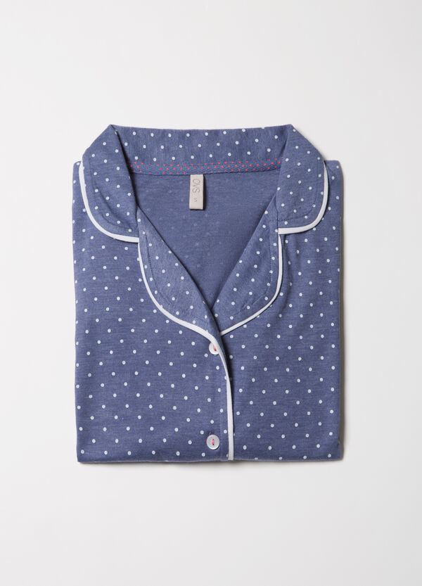 100% cotton polka dot pyjama top. | OVS