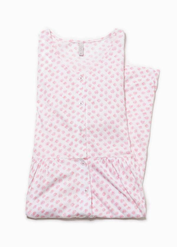 Camicia da notte stampata con pizzo   OVS