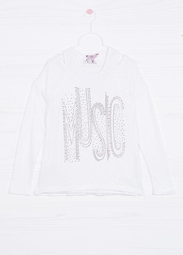 Pullover tricot finto doppio viscosa | OVS