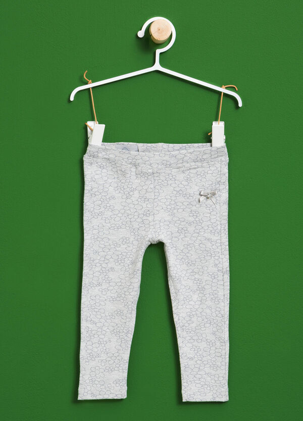 Pantaloni in cotone stretch floreali | OVS
