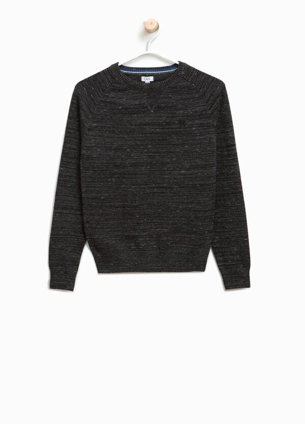 Pullover in puro cotone con ricamo | OVS