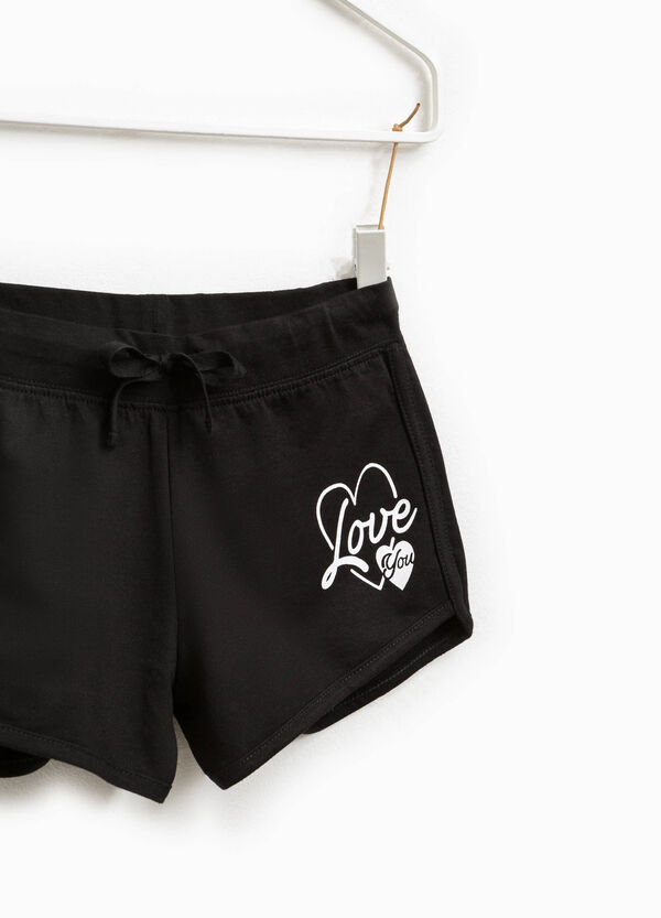 Shorts in cotton with print | OVS