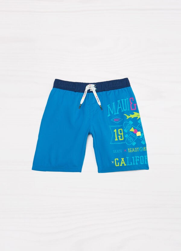 Printed swim boxer shorts by Maui and Sons | OVS
