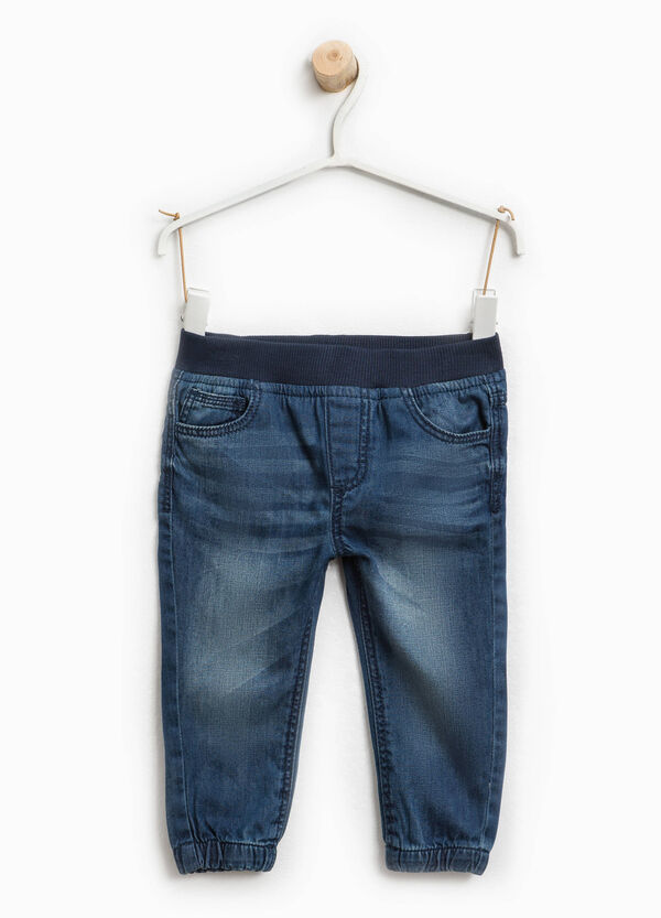 Worn-effect jeans with fading | OVS