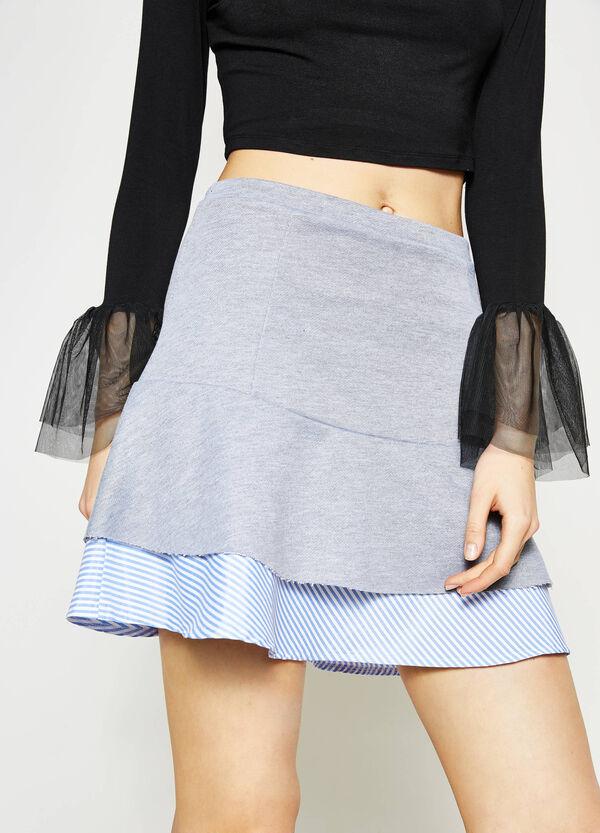 Falda de rayas con volantes y talle alto | OVS