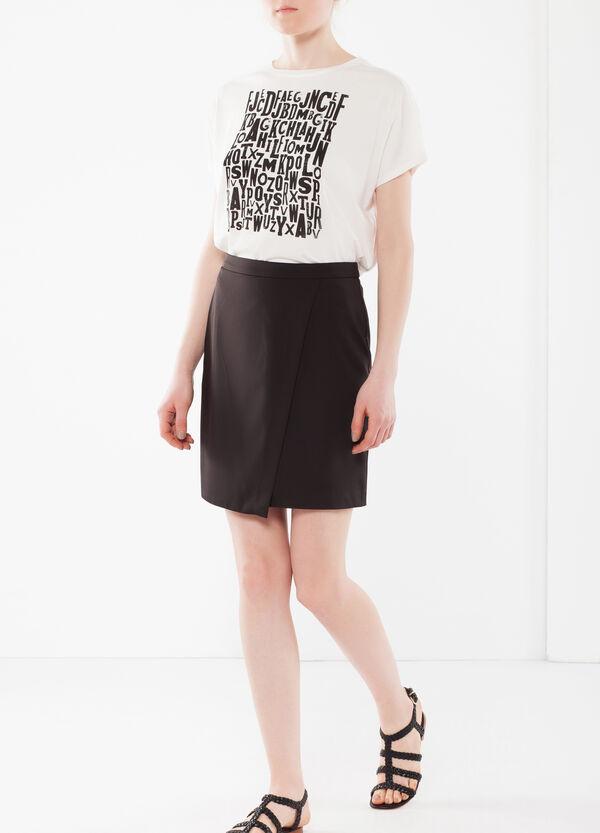 Short, wrap-front skirt | OVS