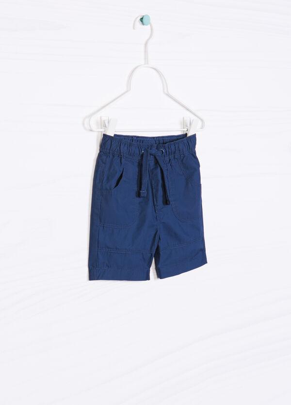 Shorts in puro cotone tinta unita   OVS