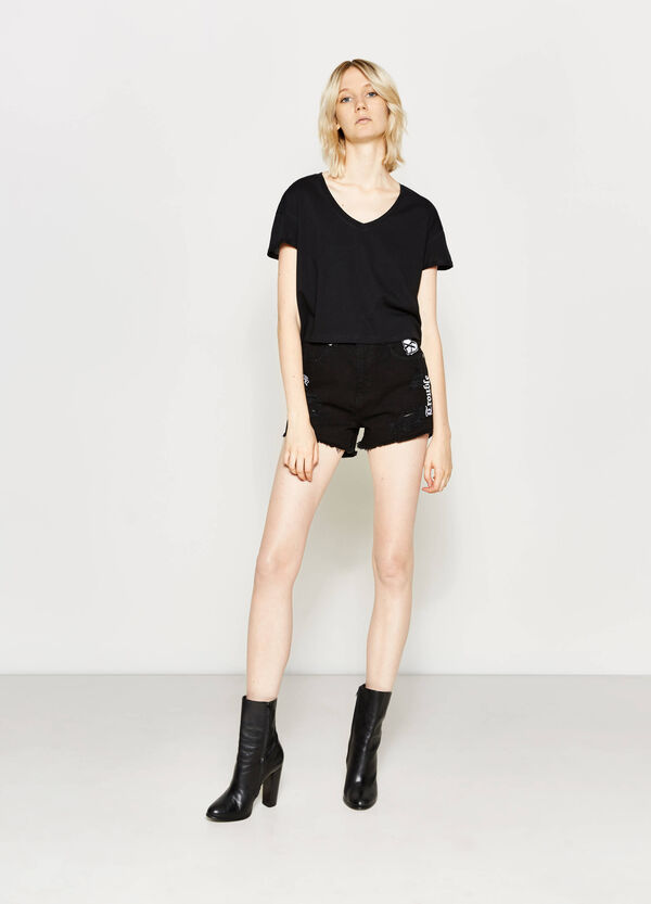 T-shirt crop in puro cotone | OVS