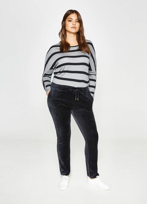 Pantaloni tuta in ciniglia di cotone Curvy | OVS