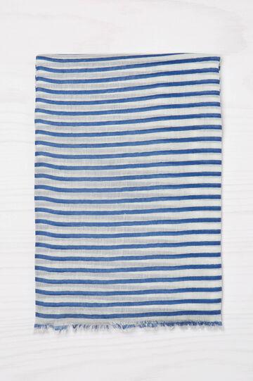 Striped scarf in 100% viscose