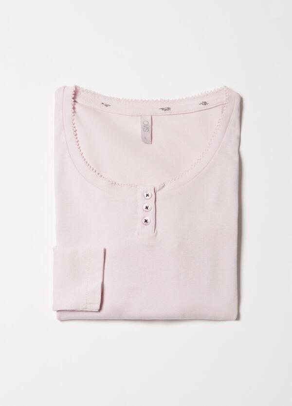 Solid colour cotton pyjama top | OVS