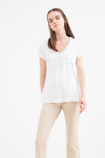 Diamanté T-shirt in 100% cotton