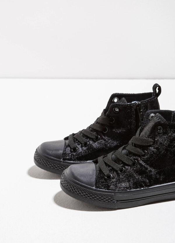 High-top faux fur sneakers | OVS