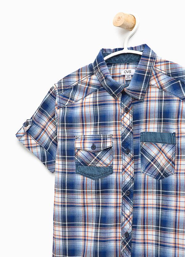 Camicia in cotone fantasia tartan | OVS