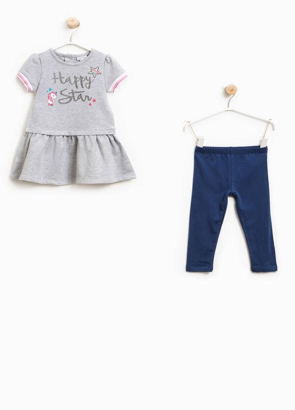 Completo vestitino e leggings cotone | OVS