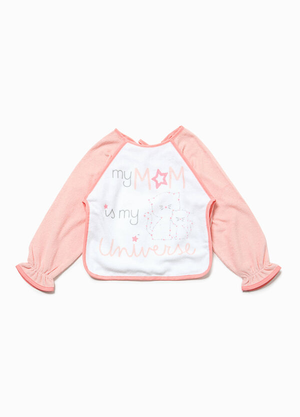 Bib with sleeves and lettering print | OVS