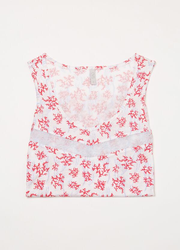 Printed viscose pyjama vest top | OVS