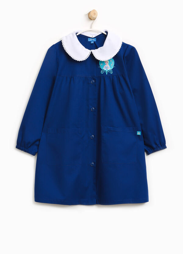 Cotton smock with patch and embroidery | OVS