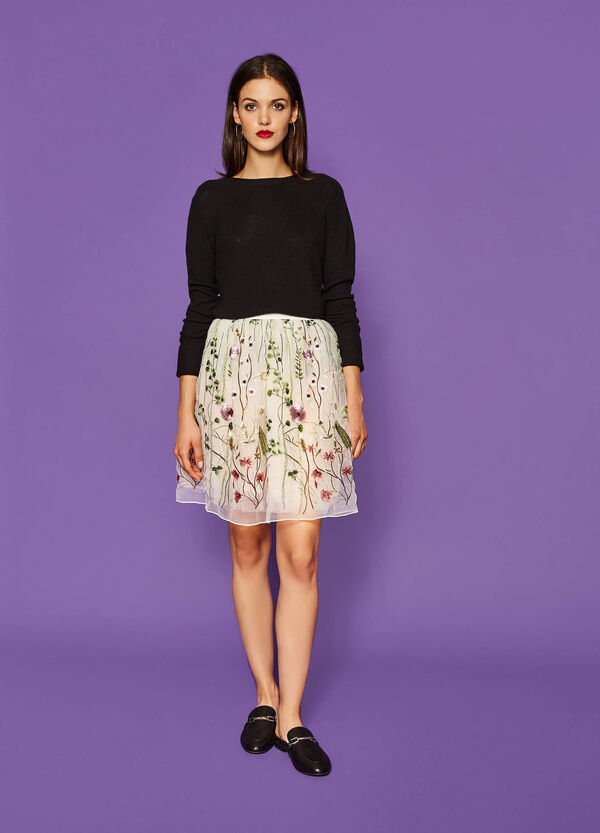 Full skirt in floral tulle | OVS