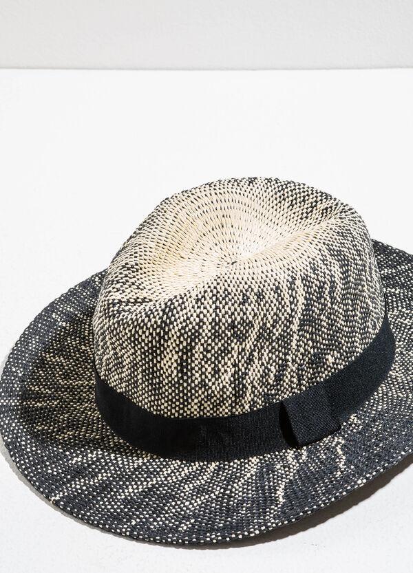 Cappello a falda larga in paglia bicolore | OVS