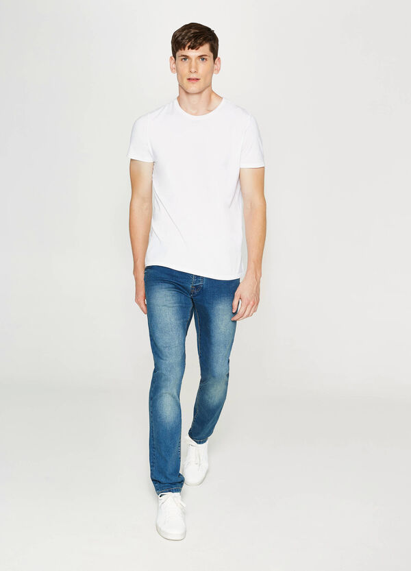 Faded, slim-fit stretch jeans | OVS