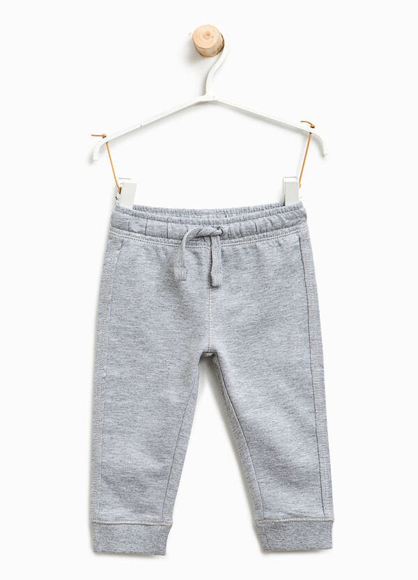 Pantaloni tuta in cotone e viscosa | OVS