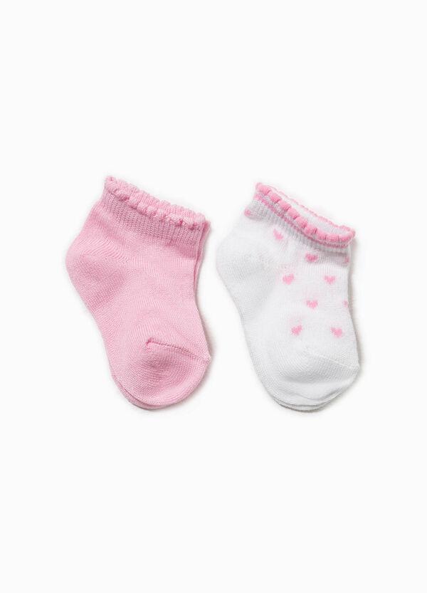 Set tre paia di calze rigate con cuori | OVS