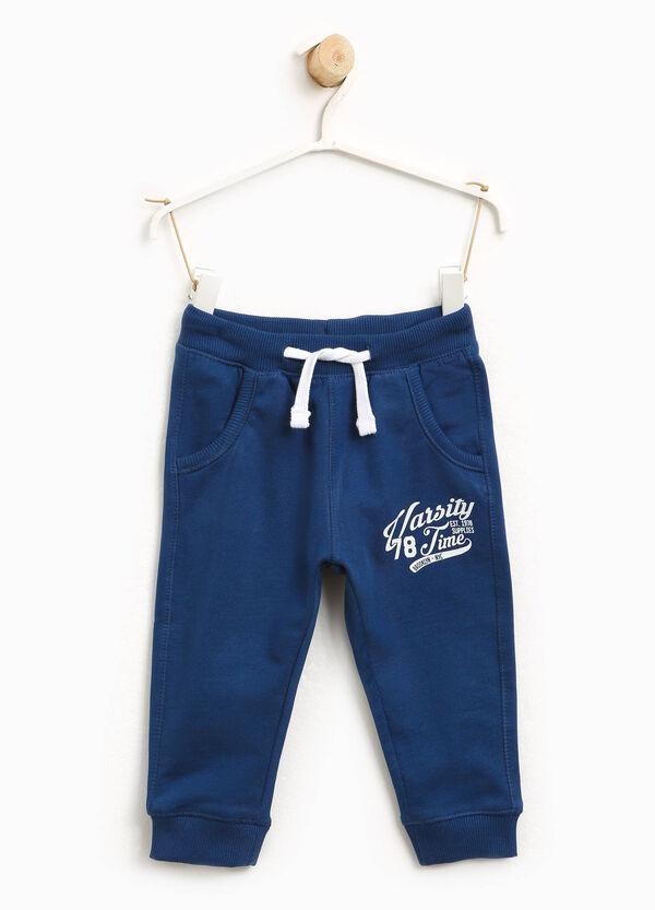 Pantaloni tuta in cotone stampa lettering | OVS