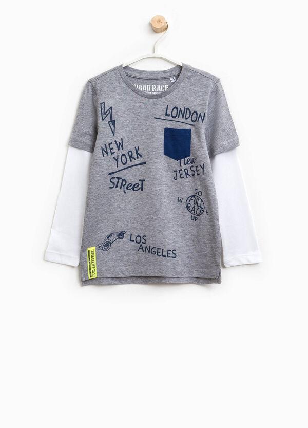 T-shirt finto doppio con taschino | OVS