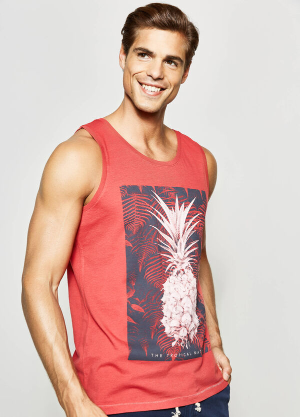 Printed cotton vest | OVS