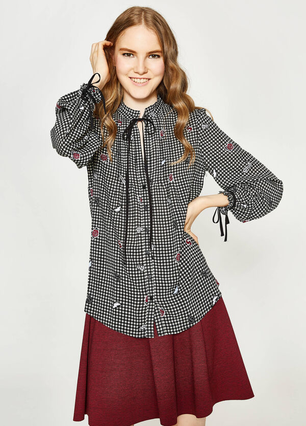 Patterned shirt with ties   OVS
