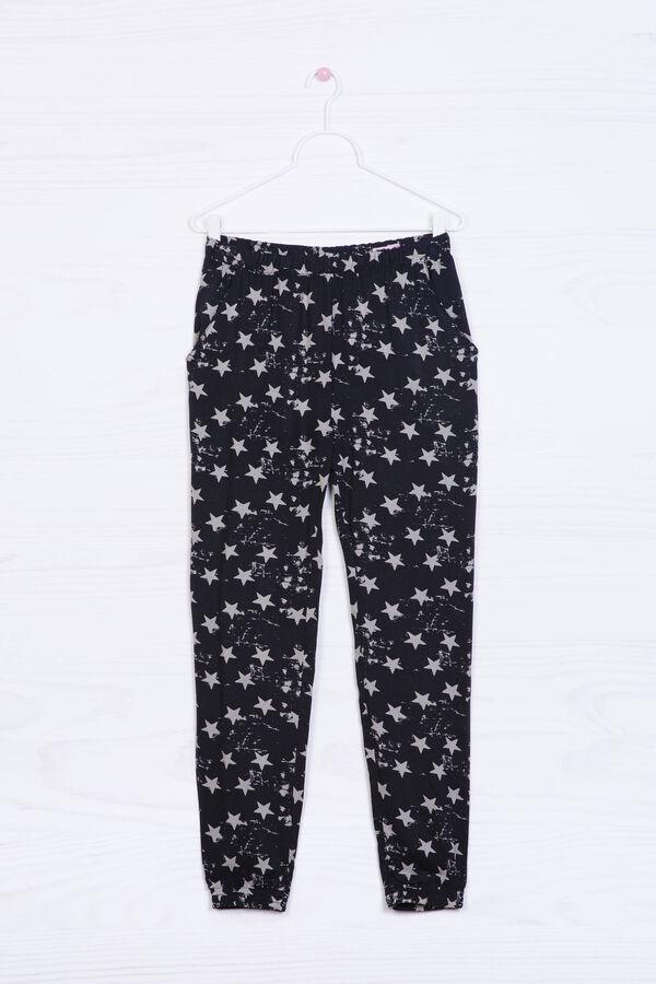 Pantaloni pura viscosa con stampa | OVS