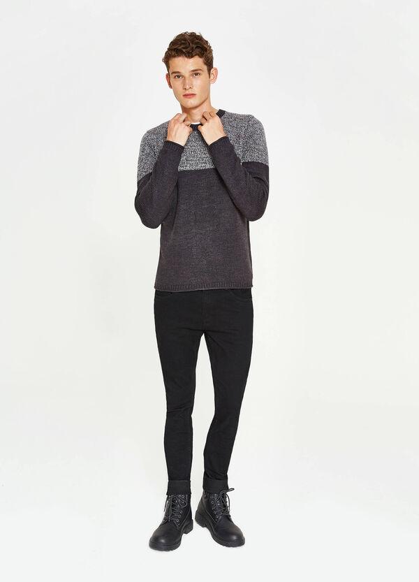 Pullover lavorato tricot bicolore   OVS